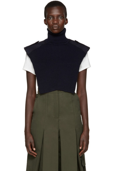 Each x Other - Navy Military Turtleneck Collar