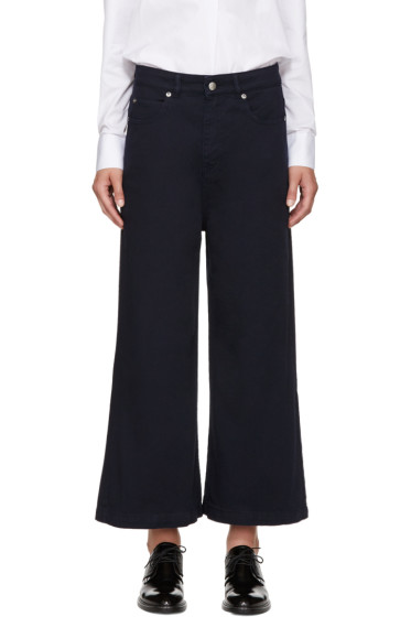 Each x Other - Navy Wide-Leg Jeans