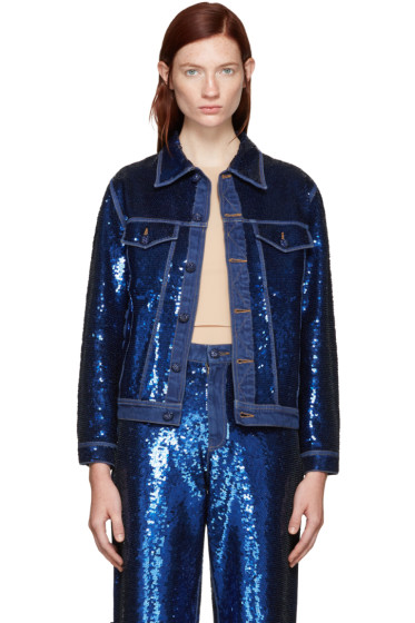 Ashish - Navy Sequin Denim Jacket