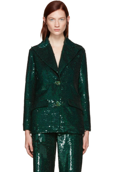 Ashish - Green Sequin Blazer