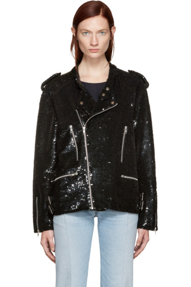 Ashish - Black Sequin Biker Jacket