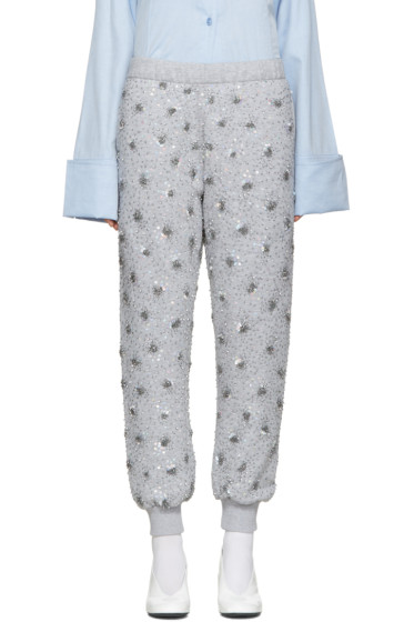 Ashish - SSENSE Exclusive Grey Sequin Lounge Pants