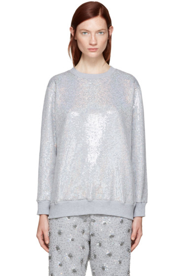 Ashish - SSENSE Exclusive Silver Sequin Sweatshirt