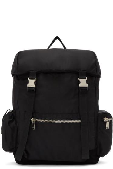 Christian Dada - Black Nylon & Leather Backpack
