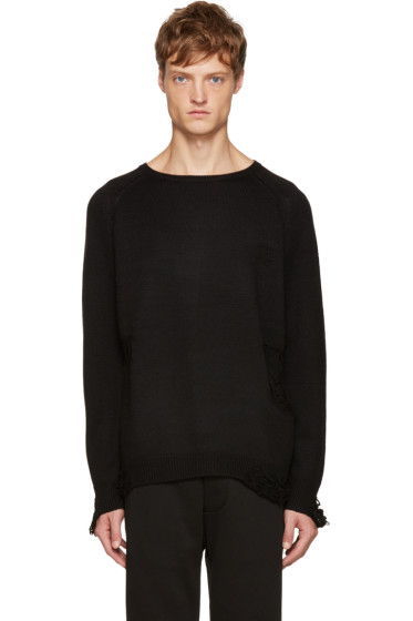 Christian Dada - Black Wool Destroyed Sweater