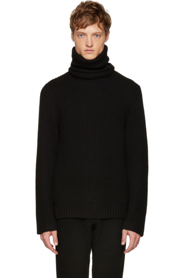 Christian Dada - Black Wool Ribbed Turtleneck