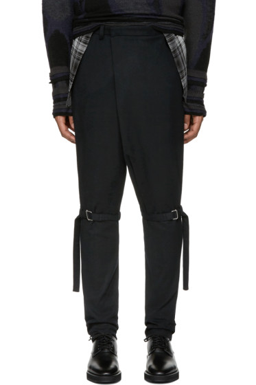 Lad Musician - Black Knee Belt Trousers