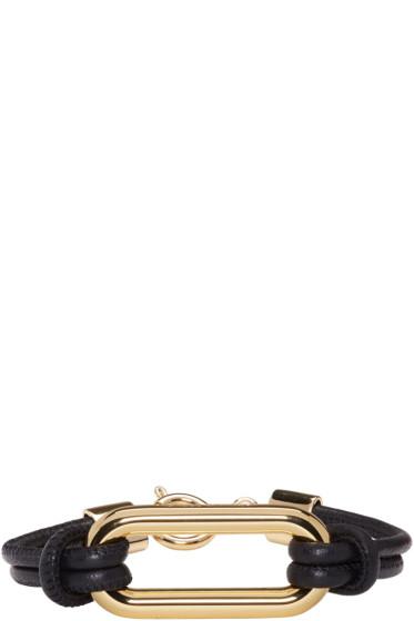 Isabel Marant - Black Leather Skate Bracelet