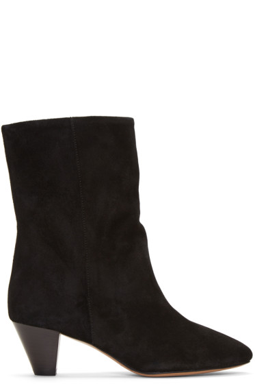 Isabel Marant - Black Suede Dyna Boots