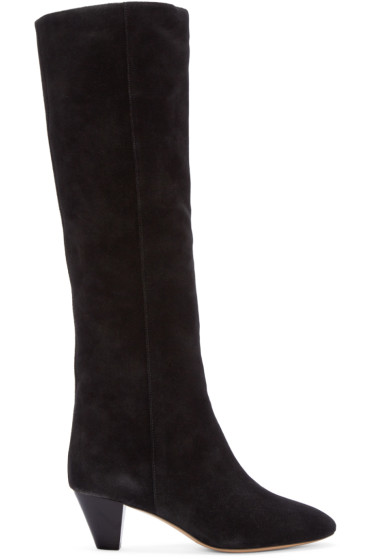 Isabel Marant - Black Suede Robby Boots