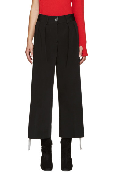 Off-White - Black Cropped Caution Trousers