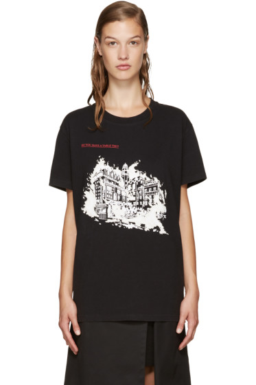Off-White - Black Burning Palace T-Shirt
