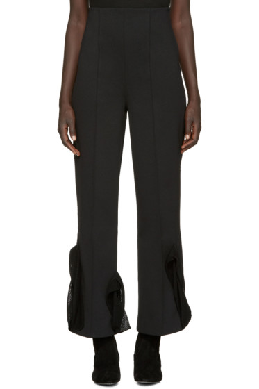 Toga - Black Bonded Jersey Trousers
