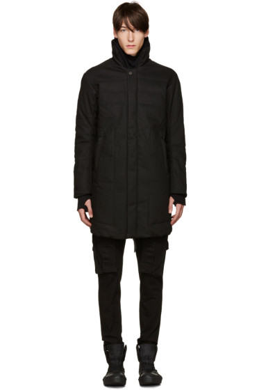 11 by Boris Bidjan Saberi - Black Quilted Coat