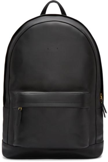 PB 0110 - Black Leather CA 6 Backpack