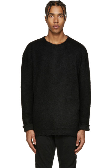 Diet Butcher Slim Skin - Black Asymmetric Sweater