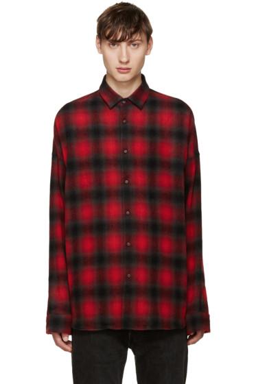 Johnlawrencesullivan - Red Plaid Flannel Shirt