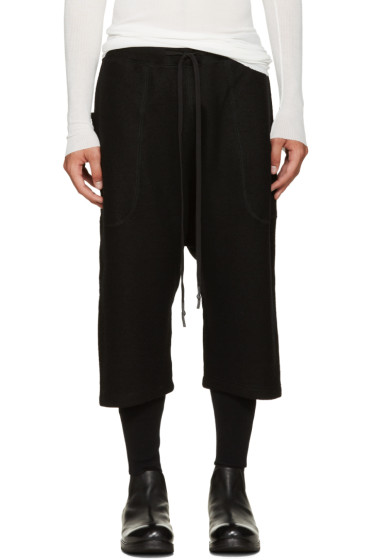 Nude:mm - Black Layered Wool Lounge Shorts