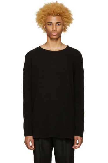 Undecorated Man - Black Waffle Cotton T-Shirt