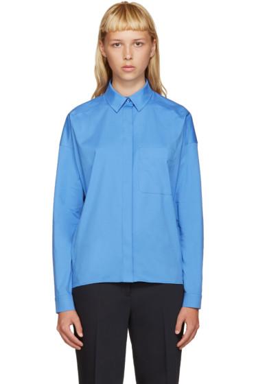 Jil Sander Navy - Blue Poplin Shirt