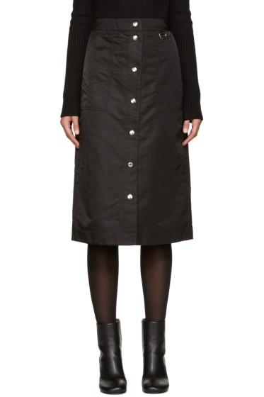 Nomia - Black Nylon Button Skirt