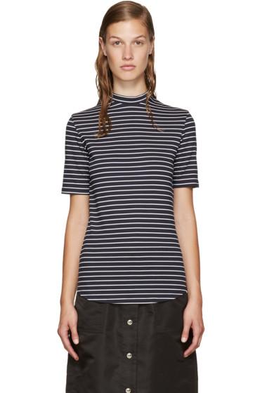 Nomia - Navy Mock Neck T-Shirt