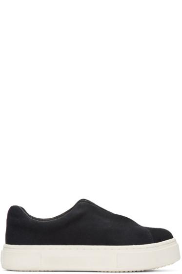 Eytys - Black Suede Doja Slip-On Sneakers