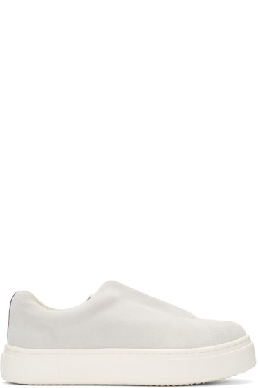 Eytys - Off-White Suede Doja Slip-On Sneakers