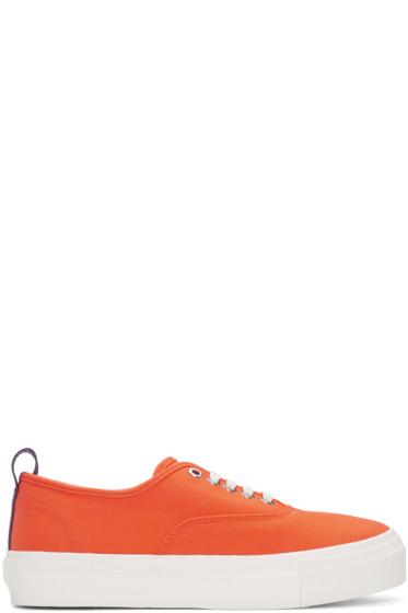 Eytys - Orange Canvas Mother Sneakers