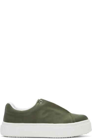 Eytys - SSENSE Exclusive Green Nylon Doja Sneakers