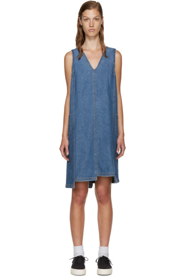 SJYP - Blue Denim Unbalanced Dress