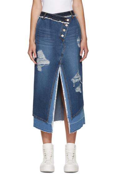 SJYP - Blue Denim Layered Skirt