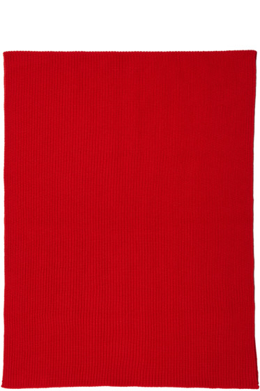 Lemaire - Red Wool Scarf