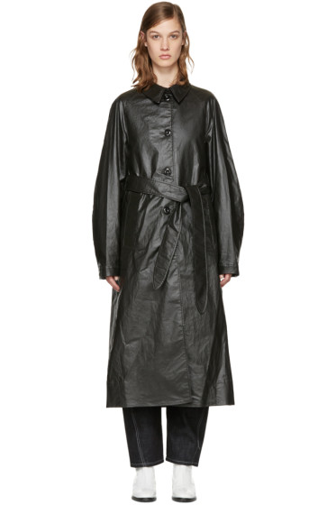 Lemaire - Black Belted Trench Coat