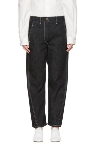 Lemaire - Indigo Large Twisted Jeans