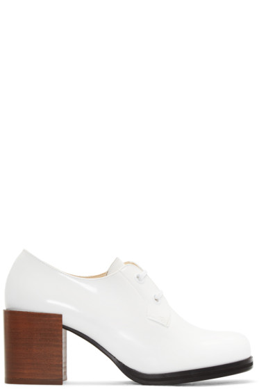 Lemaire - Off-White Heeled Oxfords