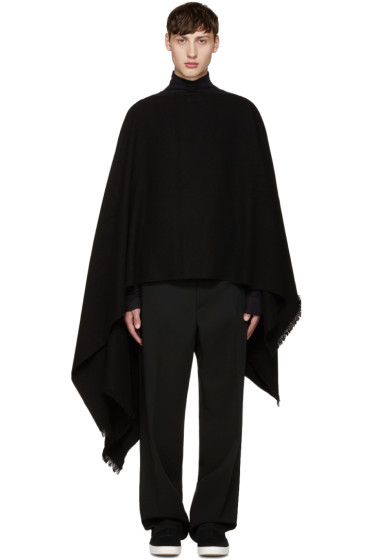 Lemaire - Black Maxi Stole Scarf