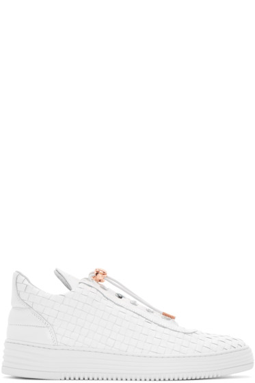Filling Pieces - White Twist Sneakers