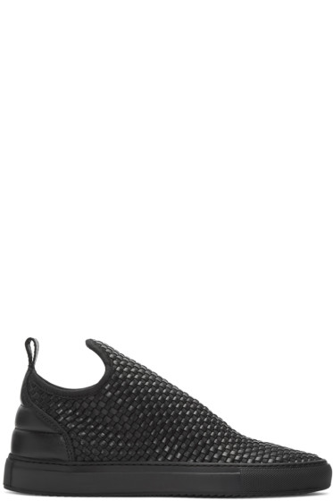Filling Pieces - Black Entwine Sneakers