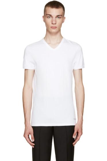 Versace Underwear - White V-Neck T-Shirt