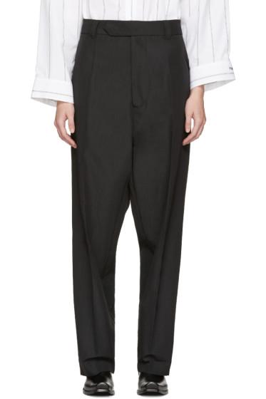 Vetements - Black Baggy Suit Trousers