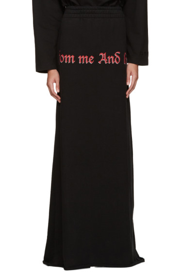 Vetements - Black 'Drink From Me' Skirt