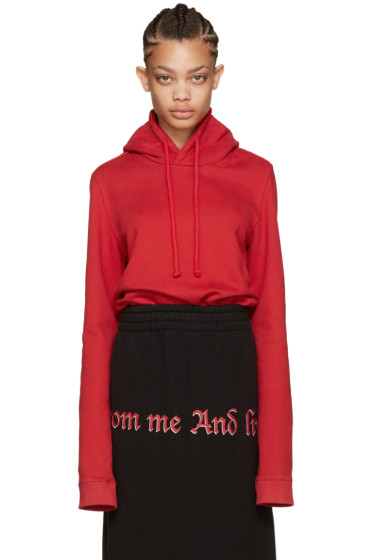 Vetements - Red Eleven Gun Club Hoodie