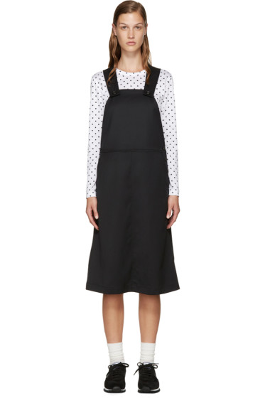 Comme des Garçons Girl - Black Wool Pinafore Dress