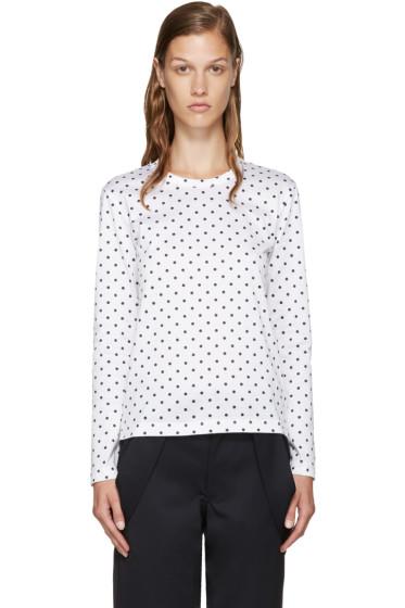 Comme des Garçons Girl - White Polka Dot T-Shirt