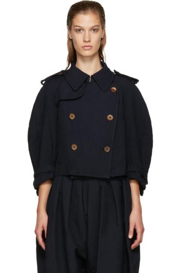 Comme des Garçons Comme des Garçons - Navy Double-Breasted Jacket