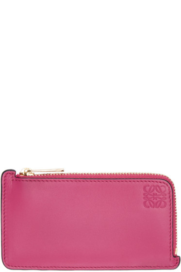 Loewe - Pink Logo Card Holder