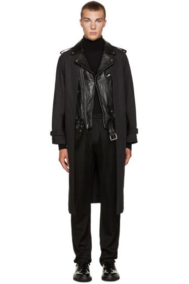 Toga Virilis - Black Layered Trench Coat