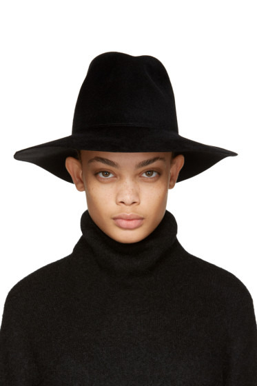 Clyde - Black Felt Pinch Fedora