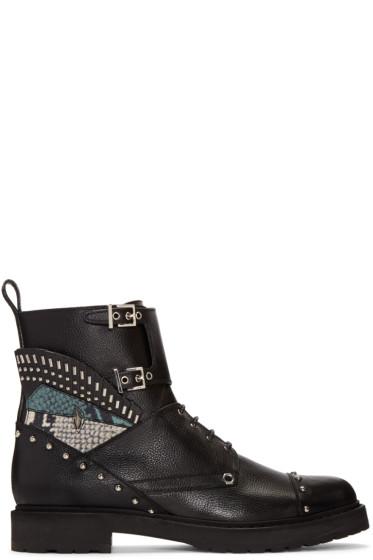 Fendi - Black Studded Biker Boots